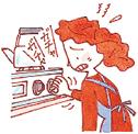点火を確認しない事故が発生しています。必ず目で確認を!点火操作を繰り返して、器具に溜まったガスに引火する事故が発生しています。再点火時にいはご注意を!